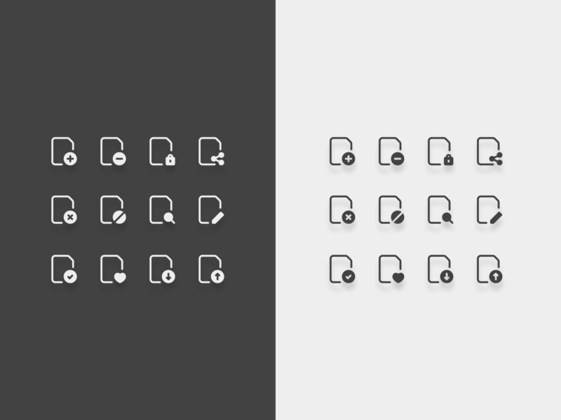 Files action icons. documents files action illustration design icons