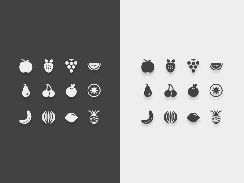 Fruits icons healthy cook food fruits illustration design icons