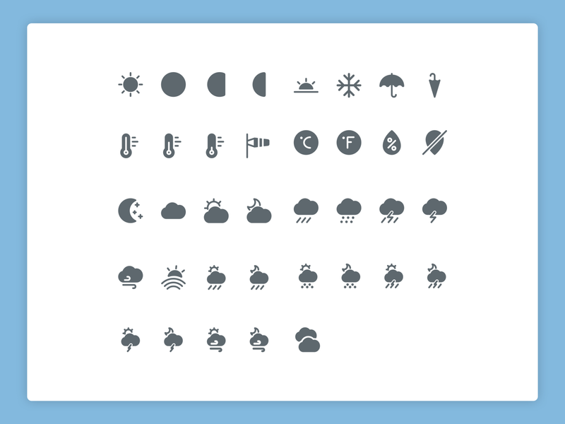 Weather solid icons 🌤 cloudy sunny rain weather forecast weather illustration design icons