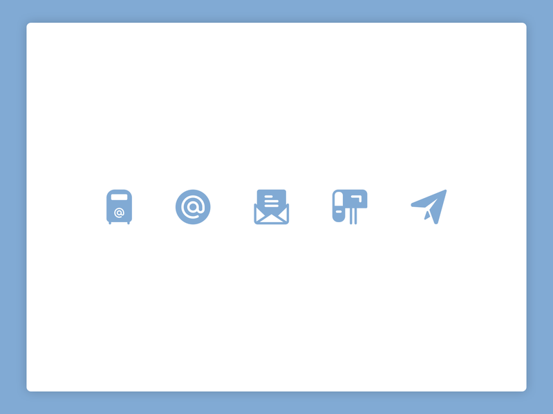 Email icons inbox letter mailbox sent email illustration design icons