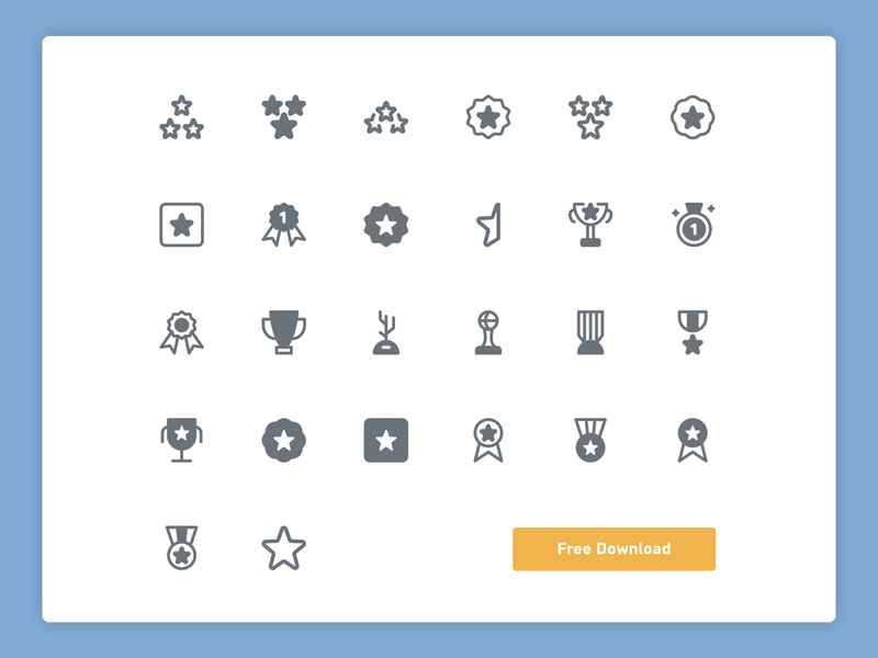 Awards solid icons