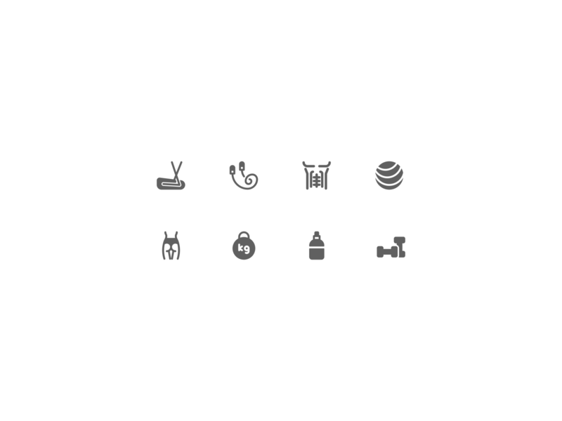 Fitness workout training sport gym fitness illustration design icons