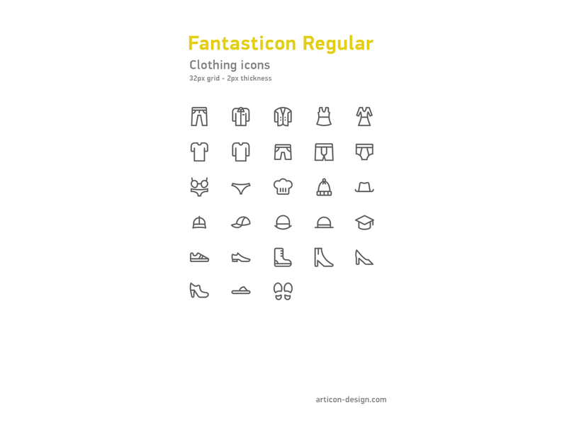Clothing icons clothing vector illustration design icons