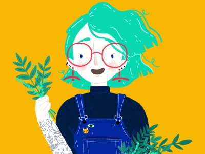 Plant Lady, My Way woman portrait portrait drawing ragon dickard ragon dickard tattoos woman illustration illustration challenge draw this in your style illustration
