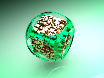 Cyber Cube cyber crypto minimal illustration design render aftereffects metal glass 3d modeling 3d artist animation mockup redshift3d cinema4d 3d animation 3d