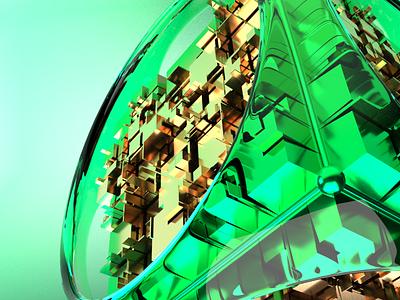 Cyber Cube redshift3d mockup metal 3d artist aftereffects cinema4d crypto cyber 3d modeling animation 3d art 3d