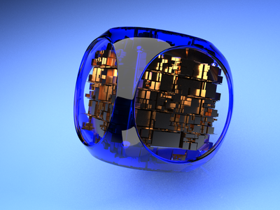 Blue cube 3d animation cinema4d redshift3d metal cyber crypto aftereffects 3d modeling 3d artist 3d