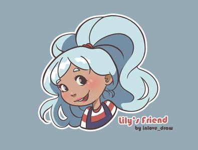 Lily's friend Blue