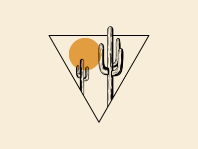 Cactus Triangle geometric designs minimalism apparel design geometric cactus minimalistic minimal
