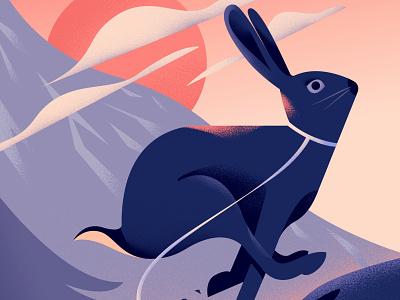 Rabbit that got away forest finland photoshop animal illustration illustration editorial concept art illustrator digital illustration character design vector