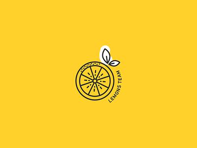 Logo for internal team outline logo yellow lemons lemon logo