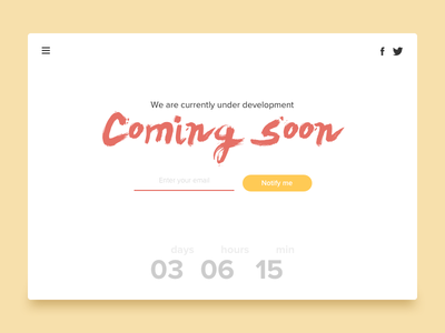 #5 - UI of the day psd sketch template freebies sketch download ui web ui under construction coming soon