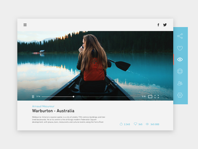 #6 (2) - UI of the day youtube vimeo template download sketch psd ui player freebies video forest