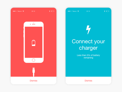 #12 - UI of the day iphone warning charge psd sketch template freebies sketch download daily ui ui of the day
