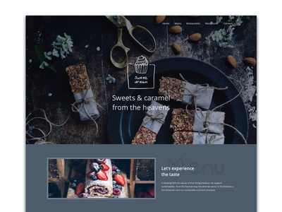 #15 - UI of the day restaurant site food web design freebies ui sketch download template website