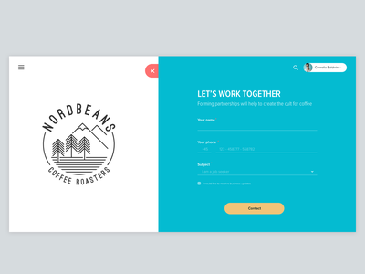 #16 - UI of the day sketch psd template freebies sketch download website web design web ux ui contact form clean