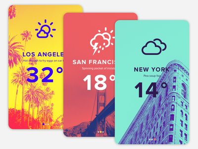 #17 - UI of the day duotone mobile weather ui app weather sketch template freebies sketch download daily ui ui of the day