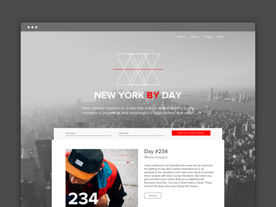 #18 - UI of the day clean new york website template download sketch ui freebies web design site