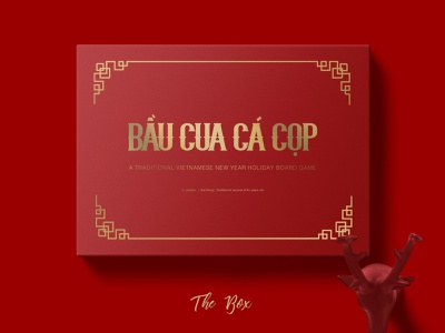 Squash Crab Fish Tiger illustration design vintage bầu cua cá cọp elegant digital illustration vietnamese new year lunarnewyear victorian inspired vietnamese art asian art royal gold red typography boardgame vietnamese