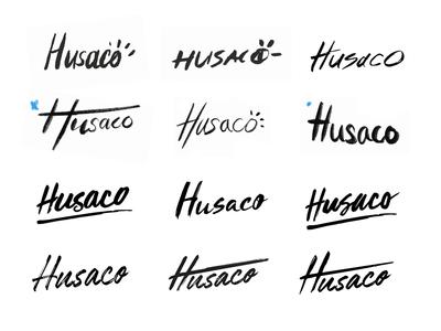 Husaco Brand Development illustration creative typography wordmark fashion logo brand identity branding brand