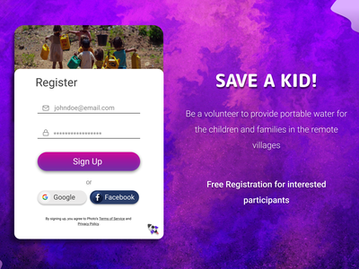 Registration form #DailyUI icon app branding web design web design ux graphic design 3d