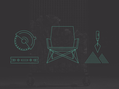 Conservatory of Craft branding identity illustration icon