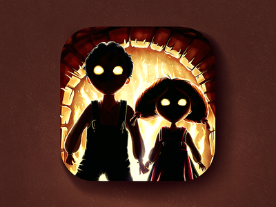 Kill The Witch iOS Icon boy illustration witch m18 icon ios iphone ipad fairy tale kill hansel and gretel girl