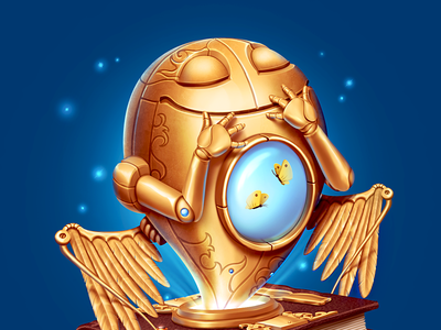 Atlas of Emotions iOS Icon emotions gold ios icon wings bliss butterfly happiness ipad m18 metal iphone