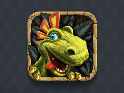 Tribez iOS Icon ios icon icons ipad iphone dino dinosaur tribe reptile natives tribes primitive