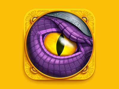 Dragon Eye iOS Icon eye dragon reptile tribe dinosaur dino iphone ipad icons icon ios