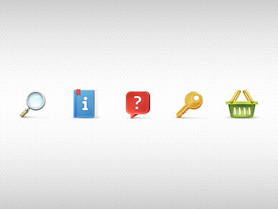 """Alphacvet"" icon set interface icon icons key cart info zoom question icons set techdesign m18"