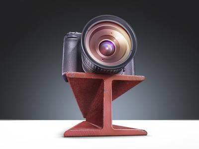 DSLR Camera beam metal camera dslr rope jumping techdesign icons teaser m18