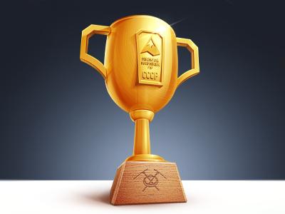 Climbing Award alpinism mountaineering cup gold illustration techdesign rope jumping award climbing m18