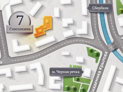 "Map for ""Novella"" techdesign map novella road river spb saint-petersburg m18"