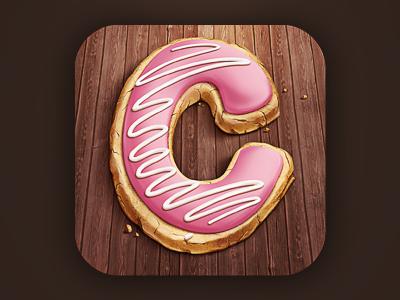 Cookie 1.0 cookie ios icon wood glaze sweet m18