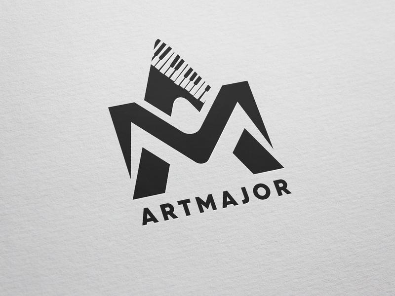 Artmajor logo typography vector branding design logo design logo