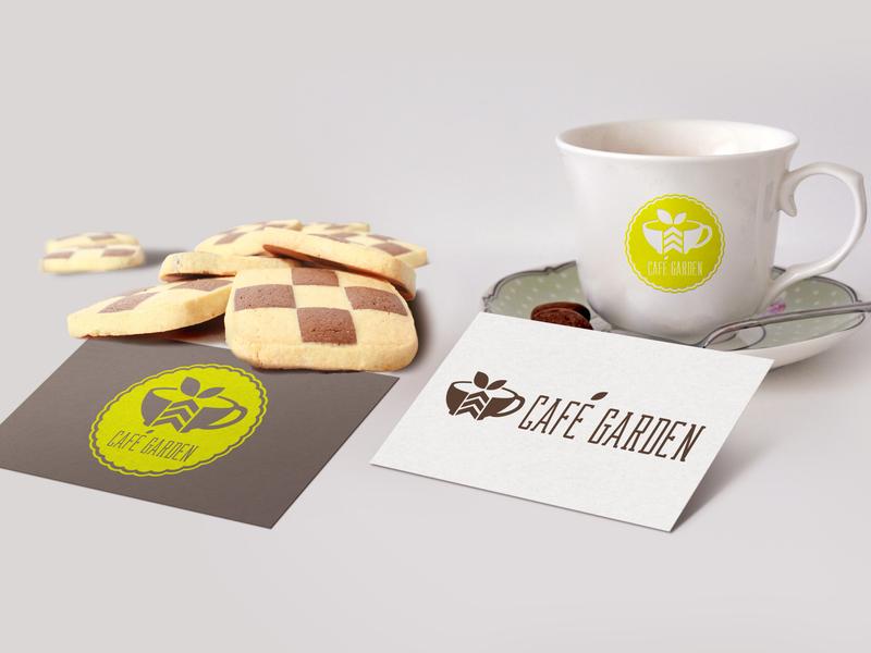 Café Garden logo design brand design branding brand garden café logotype logo design vector design logo