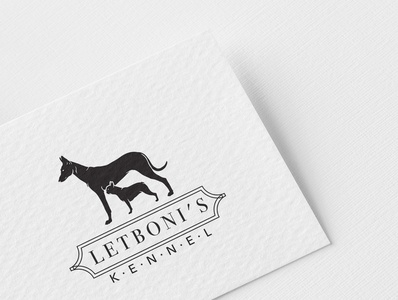 Letbonie's Kennel logo dog kennel logotype logodesign vector logo design
