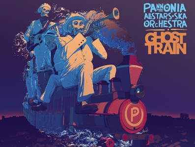 P.A.S.O Ghost Train LP front cover