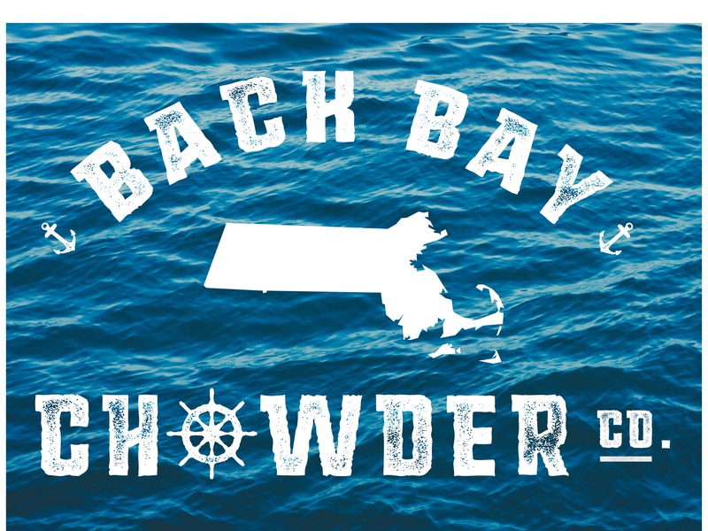 Back Bay Chowder Co. seafood sea ocean water food logo design restaraunt logo