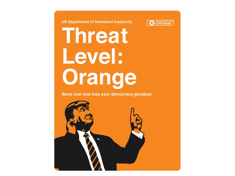 Orange Julius Caesar democracy politics government alert threat orange typography design logo