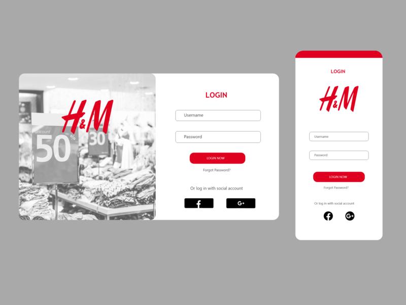 Daily UI: 001 - Login web xd branding minimal app design ux ui