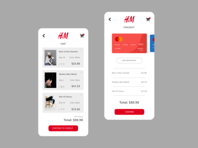 Daily UI: 002 - Checkout xd branding minimal app design ux ui