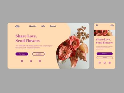 Daily UI: 003 - Landing Page typography mockup web xd branding minimal app ux ui design