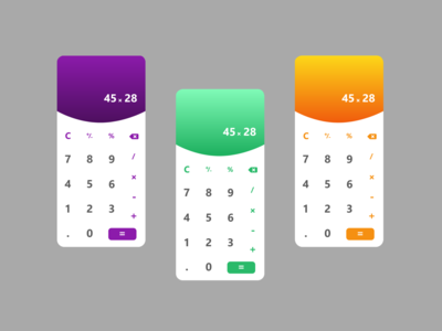 Daily UI: 004 - Calculator web xd app ux ui design
