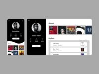 Daily UI: 006 - User Profile illustrator vector web xd branding minimal app ux ui design