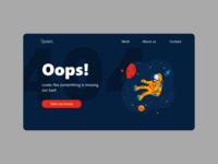 Daily UI: 008 - 404 Page illustration error message app xd ux 404 error design ui