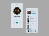 Daily UI: 009 - Music Player flat app minimal xd 100daychallenge challenge ui ux design
