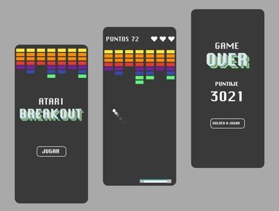 Atari Breakout - App design