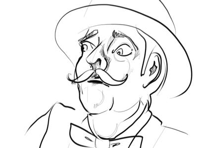 Bowlerman illustration sketch man